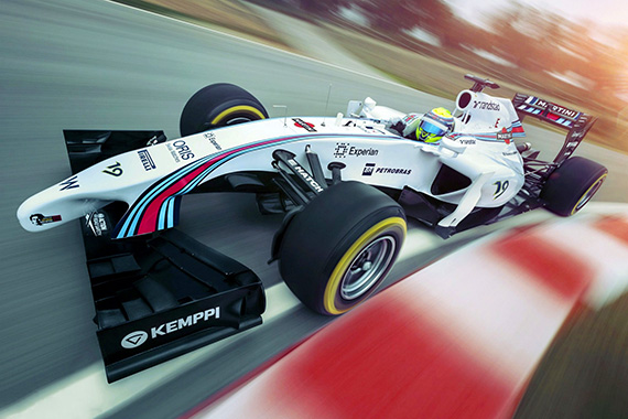Williams Martini Racing F1 versenyautó
